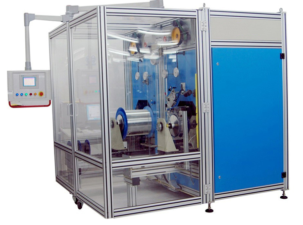 Optical Fiber Proof Testing and Rewinding Machine